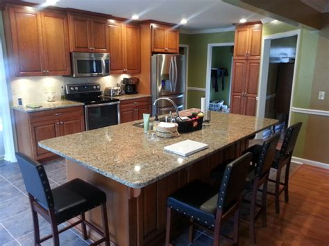 Kitchen Island Plans With Seating Kitchen Remodel Open Floor Plan Large Island W Seating Traditional Kitchen Nashville