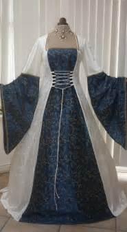 Medieval Wedding Dresses Medieval Renaissance Pagan Ivory And Blue Wedding Dress Dawns Medieval Dresses