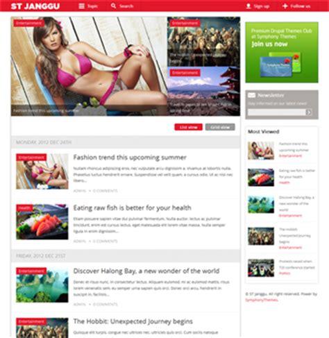 theme drupal news responsive drupal news theme native to mobile display st