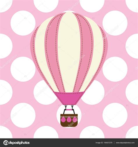 Baby Shower Balon Baby Shower Balon Bayi Balon Grosir baby shower card with air balloon on pink