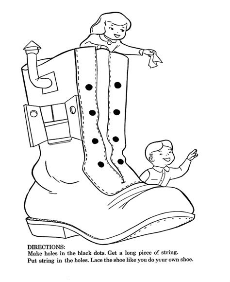 shoe house coloring pages mother goose nursery rhymes coloring pages coloring home