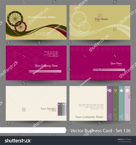 japanese business card design template vector business card template set japanese and