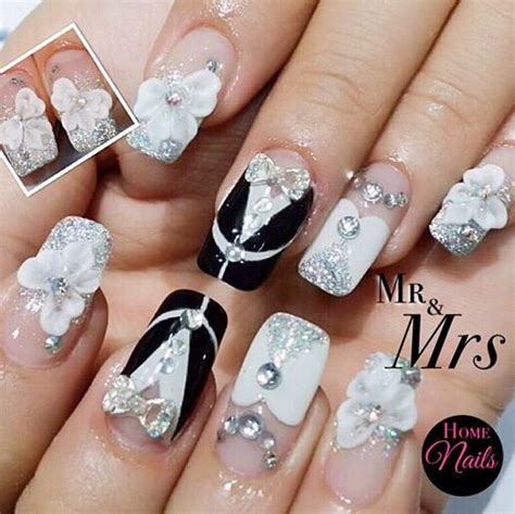 3d Wedding Nails W Swarovski Kuku Palsu Nail Wd0048a gelish manicure and nail in orchard singapore top 5 gelish manicure bridal nail trends in