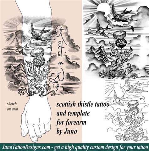 scottish thistle tattoo forearm tattoo idea how to