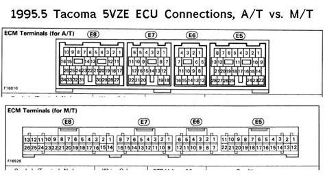 2001 tacoma ecu wiring diagram 2001 free engine image