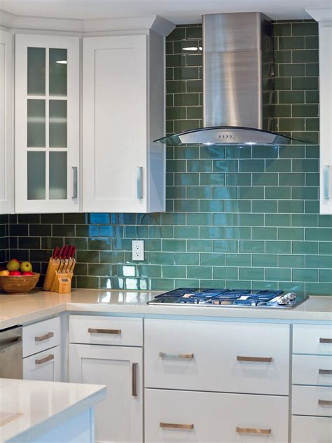 green backsplash kitchen photos hgtv
