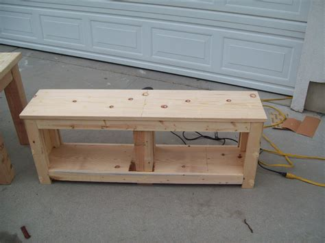 woodwork plans entryway bench  plans