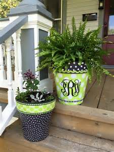Flower Pots Designs by 25 Best Ideas About Painted Clay Pots On Pinterest