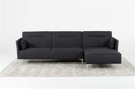 divani sofa bed divani casa rixton mid century grey fabric sofa bed sectional