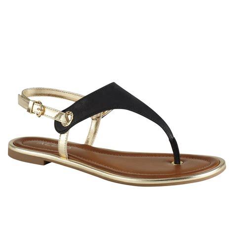 aldo sandals aldo lemacks flat tstrap sandals in black lyst