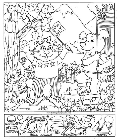Printable Hidden Pictures | free coloring pages of find the hidden objects