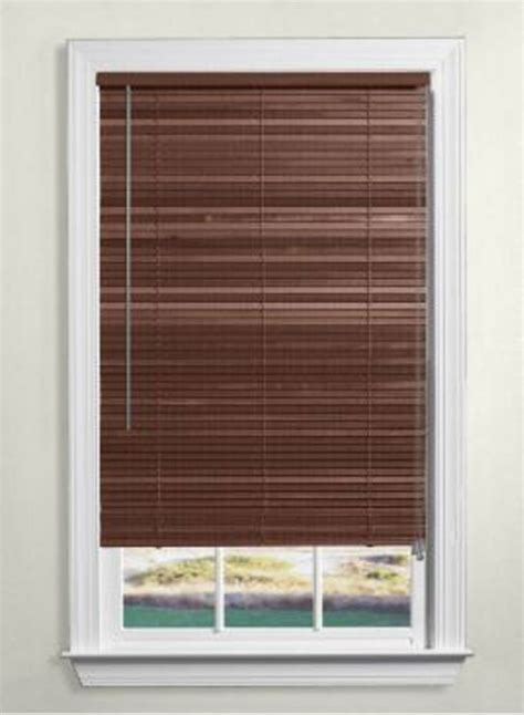 One Inch Wood Blinds levolor wood blinds 1 inch the home depot canada