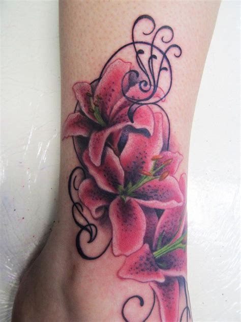 lily ankle tattoo designs 17 best ideas about ankle tattoos for on