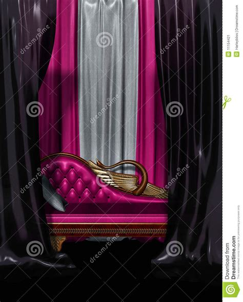 hot pink and black curtains couch and curtains stock image image 11154421