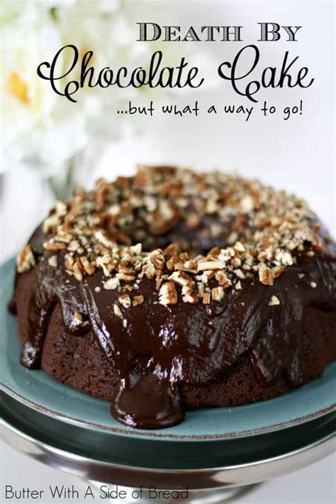Chocolate Chips Sink To Bottom Of Cake by By Chocolate Cake Butter With A Side Of Bread