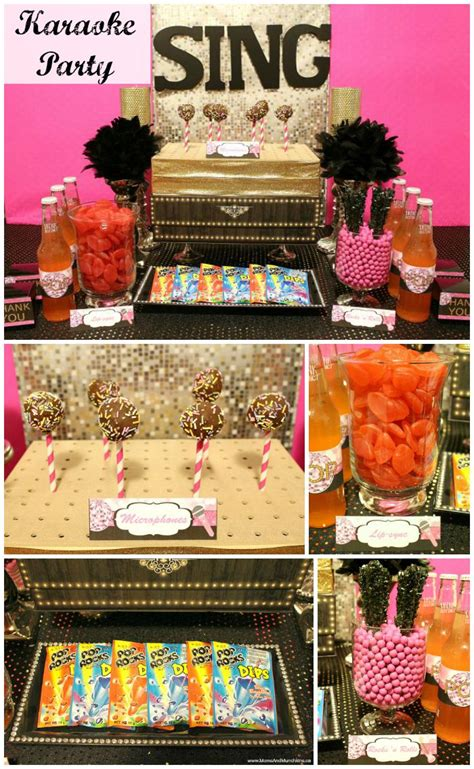 Karaoke Party  Ee  Ideas Ee   And Printables Moms Mu Hkins