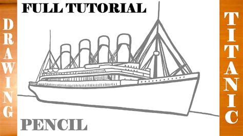 dessin bateau titanic how to draw titanic ship step by step easy for kids