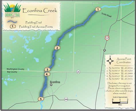 creek state park trail map econfina river state park econfina creek conoe trail