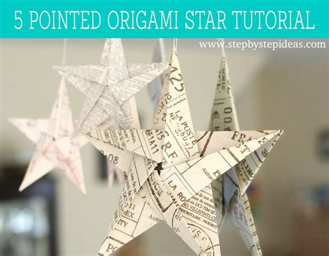origami 5 pointed 5 pointed origami tutorial step by step step by