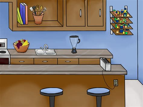 Kitchen Island Dining Table by Kitchen Cartoon Background