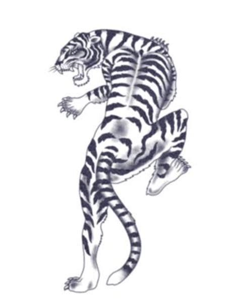 climbing tiger tattoo designs climbing tiger temporary tattooednow ltd