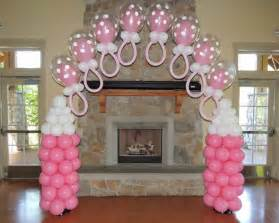 baby shower balloon decorations pacifier arches mmballoons store baby showers pinterest