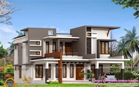 contemporary house with estimate kerala home design and floor plans