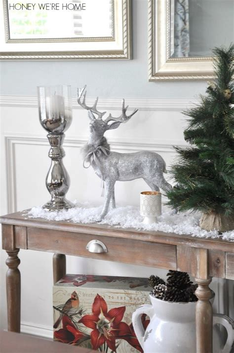 decorating console table  christmas
