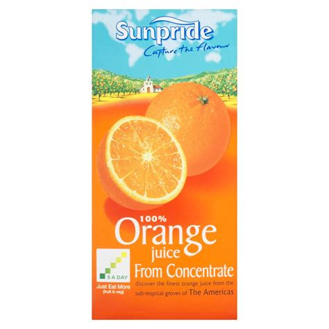 fruit juice concentrate sunpride 100 orange juice from concentrate 1 litre