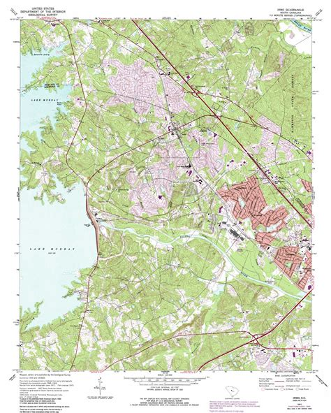 topographic map of carolina irmo topographic map sc usgs topo 34081a2