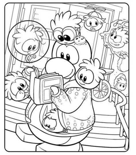coloring pages club penguin printable new club penguin coloring page club penguin cheats