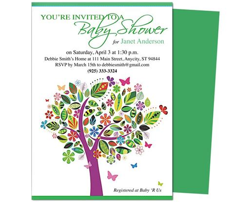 baby shower templates for mac pages 42 best images about baby shower invitation templates on