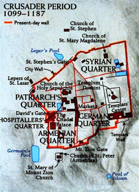 crusader maps jerusalem in the crusader period map