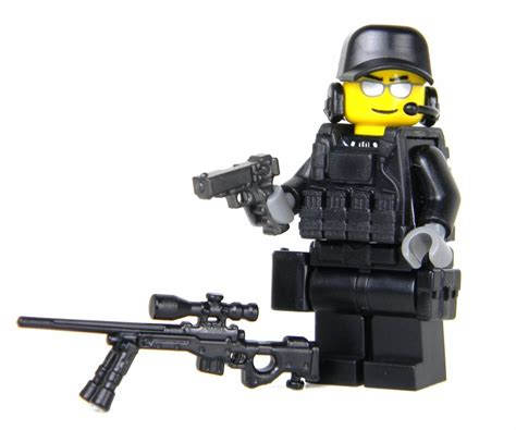figure parts swat sniper minifigure sku52 made with real lego