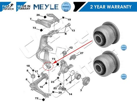 Bush Arm Crv All New 08 Front Small 1 for citroen c5 c6 front suspension lower hub carrier