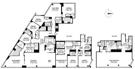 time warner center floor plan time warner penthouse returns now asking 42 5m on the market curbed ny