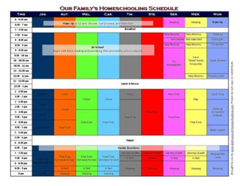 printable schedule chart daily free printable schedule chart new calendar