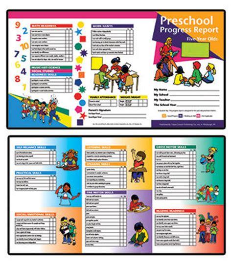 nursery report card sle pin preschool progress report 10pk age 5 school reports h