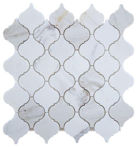 italian calacatta gold marble honed arabesque mosaic tile 1 square foot contemporary wall