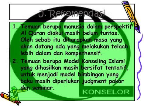 Bimbingan Konseling Islami 1 model bimbingan dan konseling islami