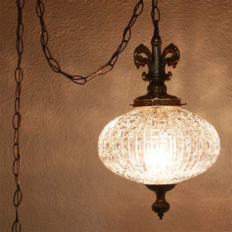 what is a swag light vintage hanging light hanging l glass globe chain