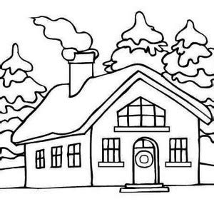 coloring pages of winter houses free printable coloring pages part 172