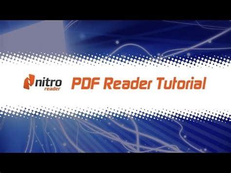 tutorial youtube pdf nitro reader pdf reader tutorial youtube