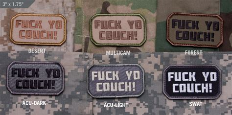 Mil Spec Monkey Velcro Morale Patch F Ck Yo Couch