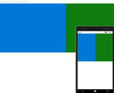 xaml adaptive layout uwp xaml simple responsive layout using grid and