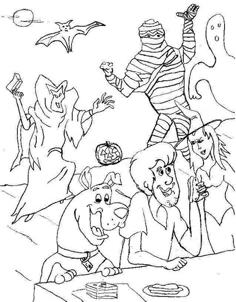 scooby doo coloring pages for halloween 10 scooby doo halloween coloring pages free sheets for kids