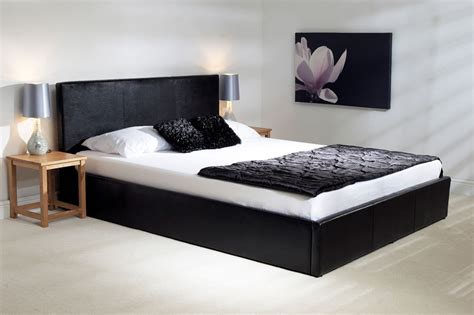 Black Ottoman Bed Emporia Madrid 5ft Kingsize Black Leather Ottoman Bed Branded Furniture