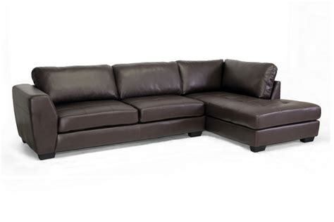 sears leather sofa baxton studio orland brown leather modern sectional sofa