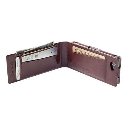 Krusell Kalmar Wallet Sony Xperia T3 krusell kalmar xperia t3 tasche walletcase in braun mobilefun schweiz