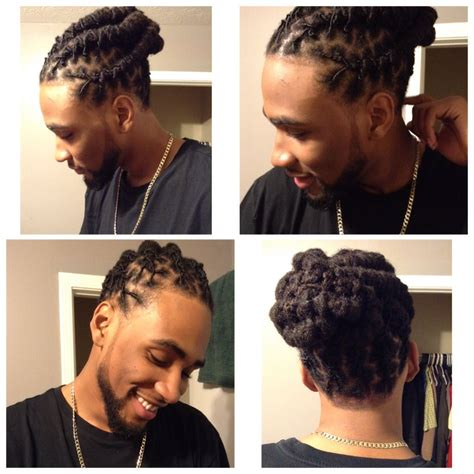 loc bun for men featuring my man my other half black man with